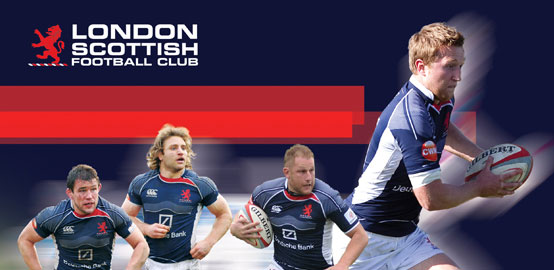 London Scottish FC - Graphic Design, web design